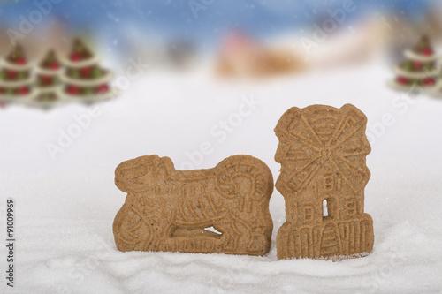 Traditionelles Weihnachtsgebäck.Spekulatius Spekulatis Traditionelles Weihnachtsgebäck Mi Motiven