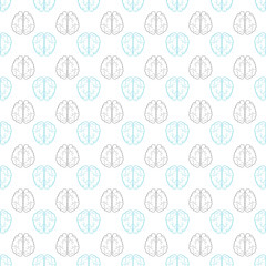 Seamless pattern with abstract human brain