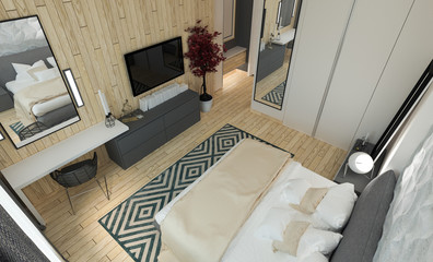 Modern bedroom intereer
