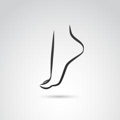 Human foot VECTOR icon.