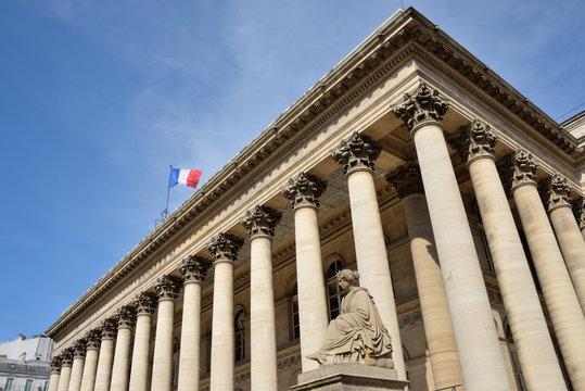 Palais Brongniart, siège de la bourse de Paris - Paris stock exchange in France