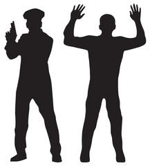 Criminal and Police officer.