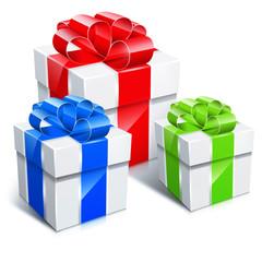 Obraz Kolorowe ikony prezentów świątecznych - fototapety do salonu