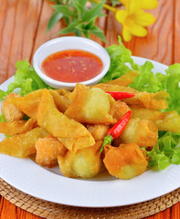 Asian Style food , Deep Fried Wonton for appetizer