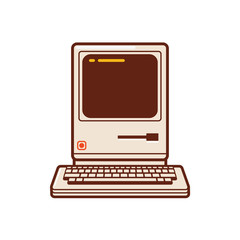 The Classic Computer. a computer unit of the historic past and become the most powerful computer of its time.