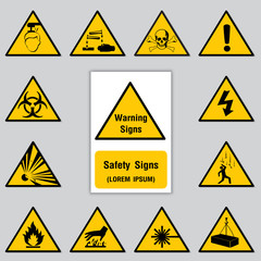 Safety Sign Icon for Poster Sign in Factory. Vector Illustration