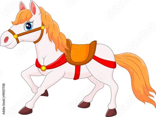 Cartoon horses and ponies