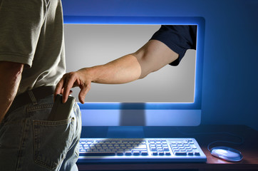 Computer identity theft pickpocket through online activity