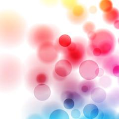 kolorowe koła wektor