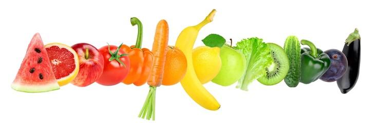 Keuken foto achterwand Verse groenten Fresh color fruits and vegetables