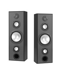 speakers isolated on white.