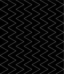 Vector modern seamless geometry pattern zig zag lines vertical , black and white abstract geometric background,wallpaper print,  monochrome retro texture, hipster fashion design