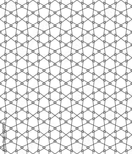 Vector Modern Seamless Geometry Pattern Simple Black And White