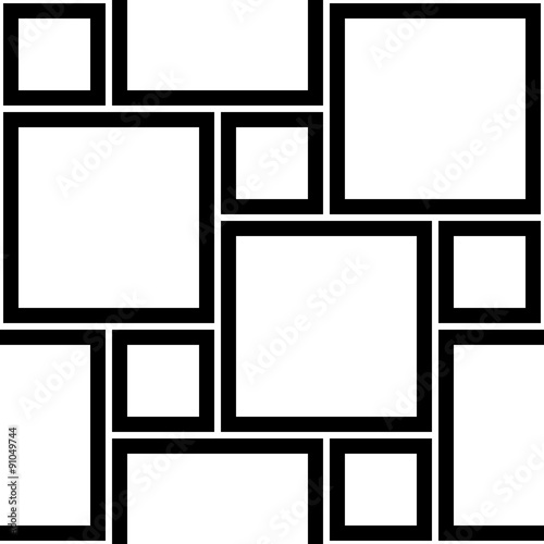 quotvector modern seamless geometry pattern squares black