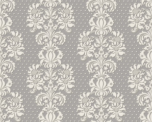 Illustration of seamless background pseudo lace in vintage style