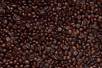 Foto op Canvas koffiebar chicchi di caffè texture