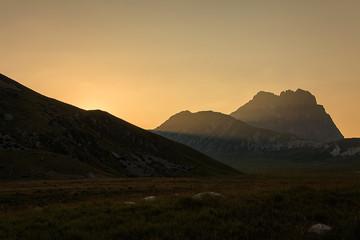 Gran Sasso, tramonto spettacolare