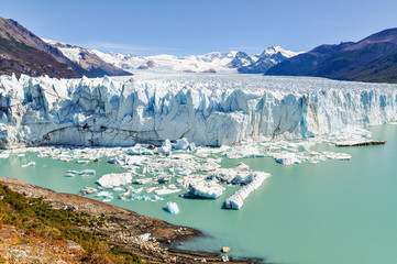 Foto auf Leinwand Glaciers Panoramic view, Perito Moreno Glacier, Argentina