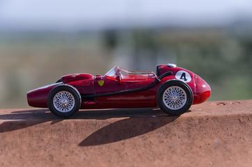 Model of a classic Formula one car