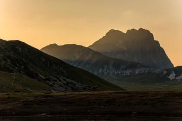 Campo imperatore, tramonto