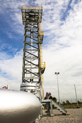 Gas pipeline to gas flare tower