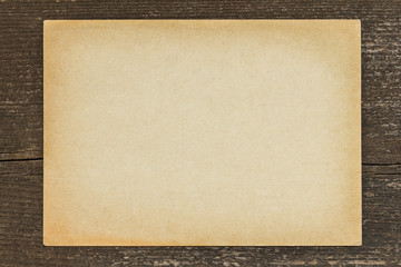 Antique paper vintage wooden background
