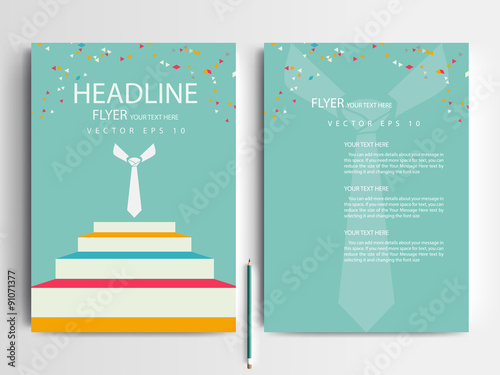 Abstract Modern Template Book Cover ~ Quot abstract vector modern flyer design brochure