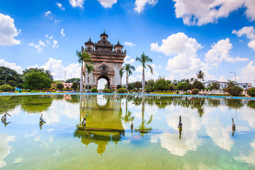 Patuxai literally meaning Victory Gate or Gate of Triumph from France in Laos