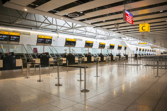 Closed Airport Check in Desks