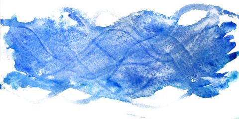 Blue waves in watercolor