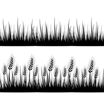 Wheat grass green icon juice black. Logo, banner, frame for