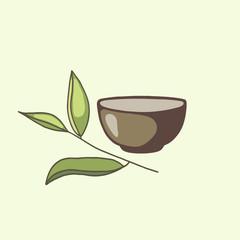 Green tea symbol