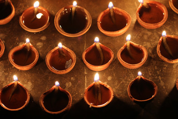 indian clay oil lamps, festival season