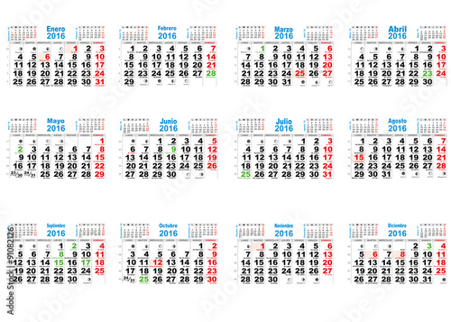 Calendario Con Santos.Calendario 2016 Stock Image And Royalty Free Vector Files On