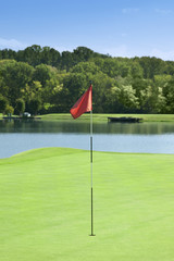 Golf Hole Flag