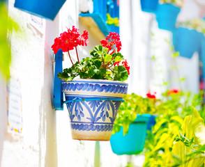 Spain, Torremolinos. Costa del Sol, Andalucia. Typical white village