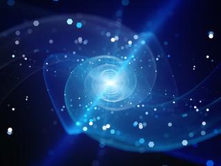 Photo sur Plexiglas Spirale Blue glowing spiral galaxy in space