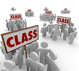 Class Signs Groups People School Students Legal Action Lawsuit