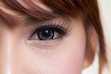 Close-up woman eye