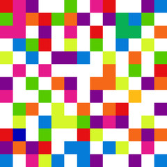 Pixel background in 8-bit style, digital seamless pattern, vecto