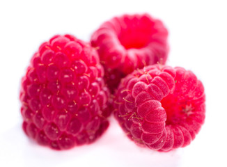 Raspberries (isolated on white)