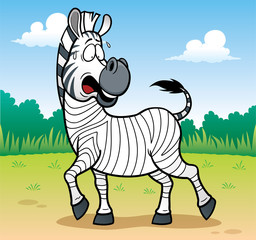 Vector illustration of Game for children paint skin Zebra