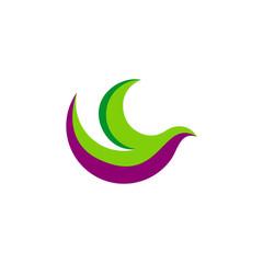 abstract bird fly vector logo
