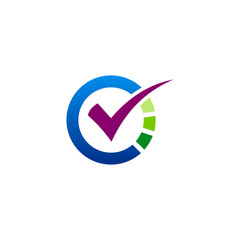 check list survey round vector logo