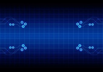 abstract circuit with grid technology concept  background. illus