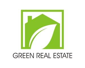 green real estate and mortgage company logo