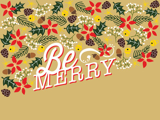 Christmas greeting card. Vector design.