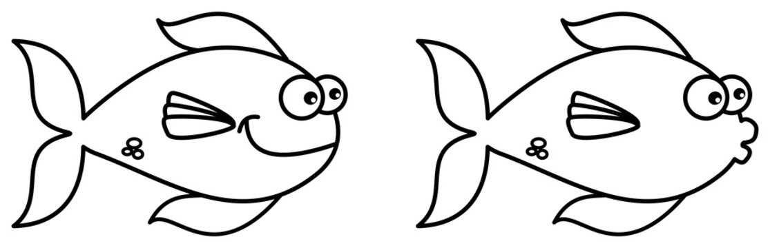 fish swimming for coloring