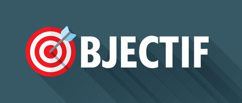 Icône Vecteur « OBJECTIF » avec cible