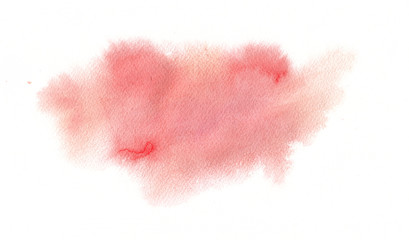 Abstract watercolor painting. Red and pink colors